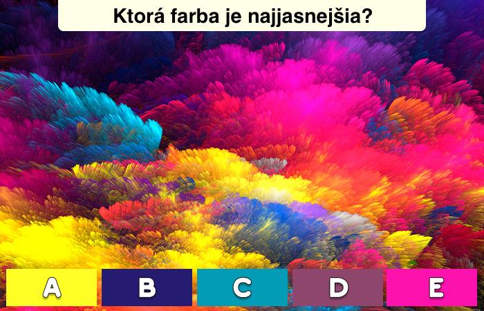 Kvíz: Zábavný farebný test, ktorý predvída váš mentálny vek