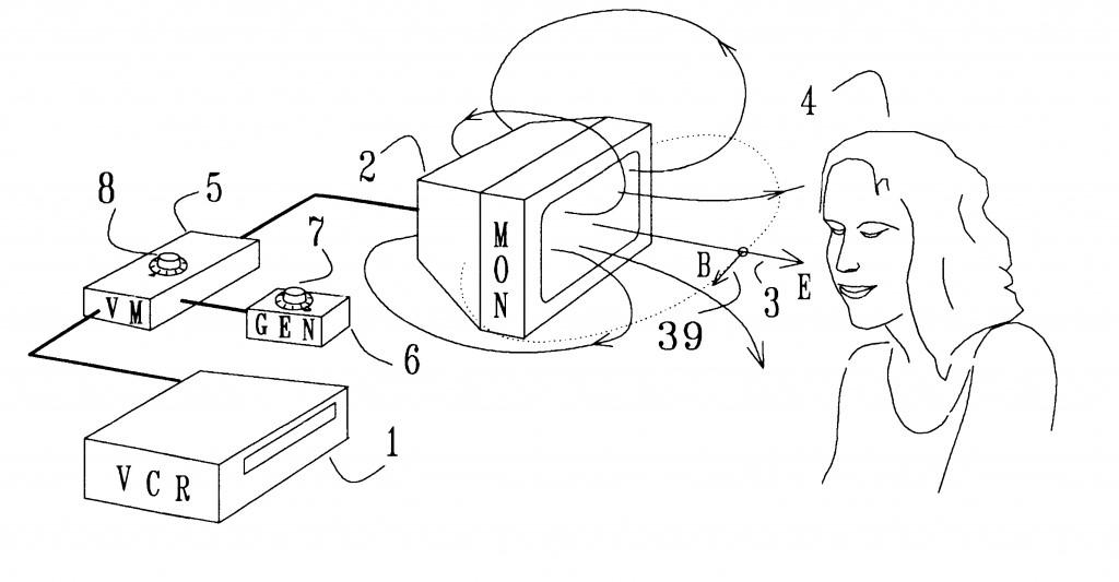 Manipulácia nervového systému prostredníctvom televízie a počítačov – americký patent č. 6506148 B2