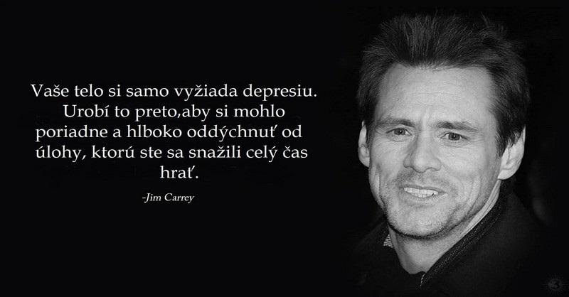 Jim Carrey a jeho dôležitý odkaz pre každého, kto trpí depresiou